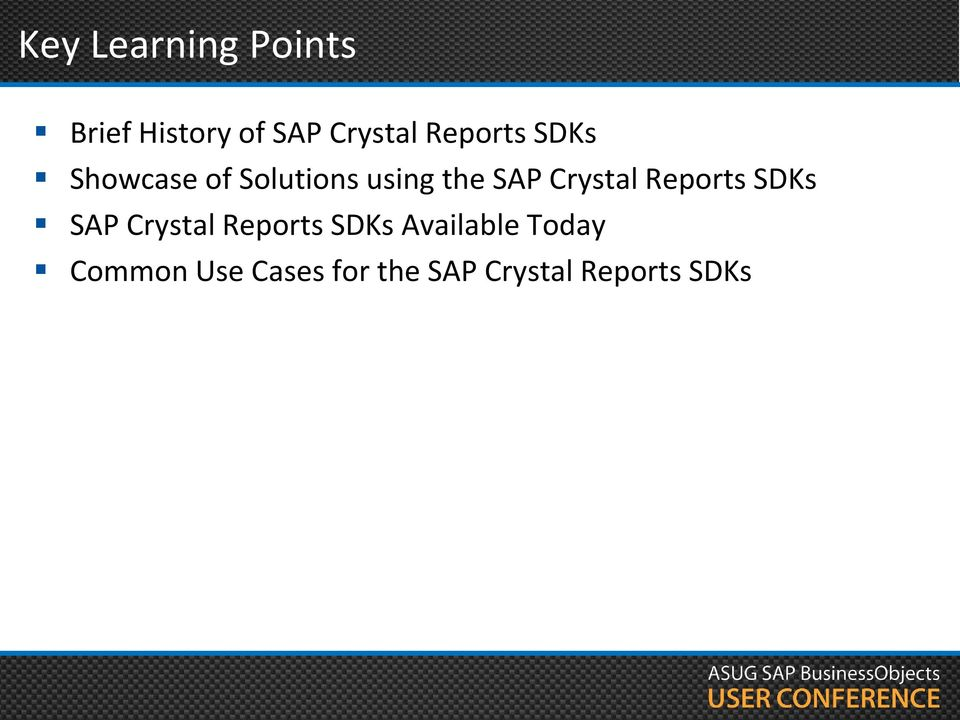 Crystal Reports Version History