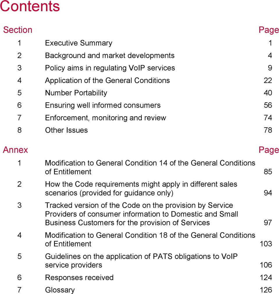 requirements might apply in different sales scenarios (provided for guidance only) 94 3 Tracked version of the Code on the provision by Service Providers of consumer information to Domestic and Small