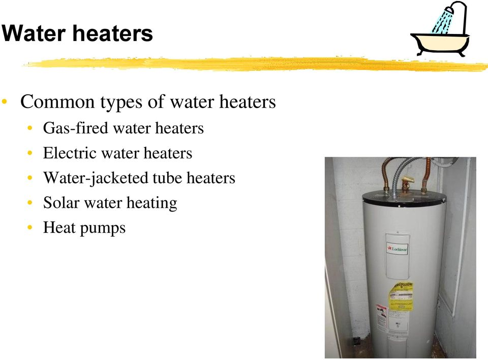 Electric water heaters Water-jacketed