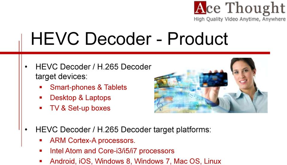 & Set-up boxes HEVC Decoder / H.