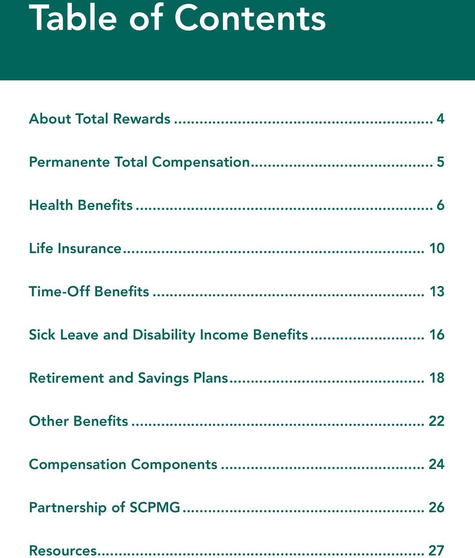 .. 13 Sick Leave and Disability Income Benefits.