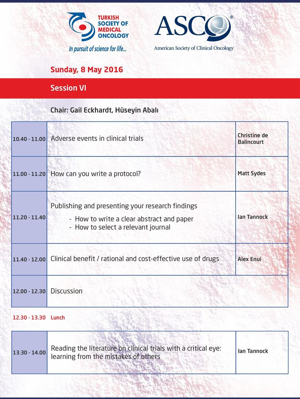 40 Publishing and presenting your research findings - How to write a clear abstract and paper - How to select a relevant journal 11.40-12.
