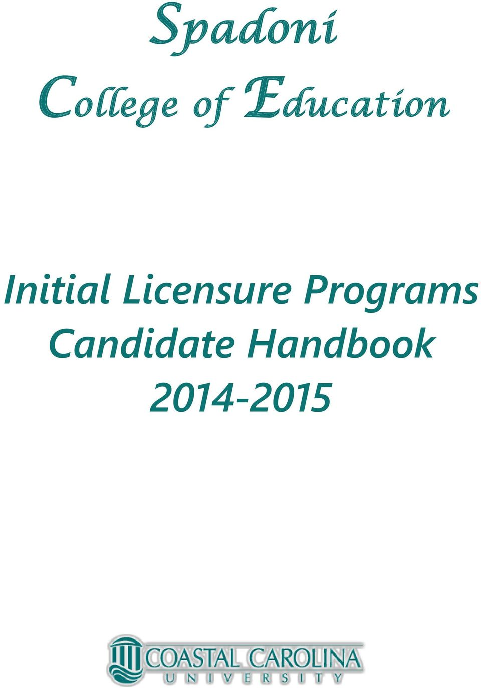 Licensure Programs