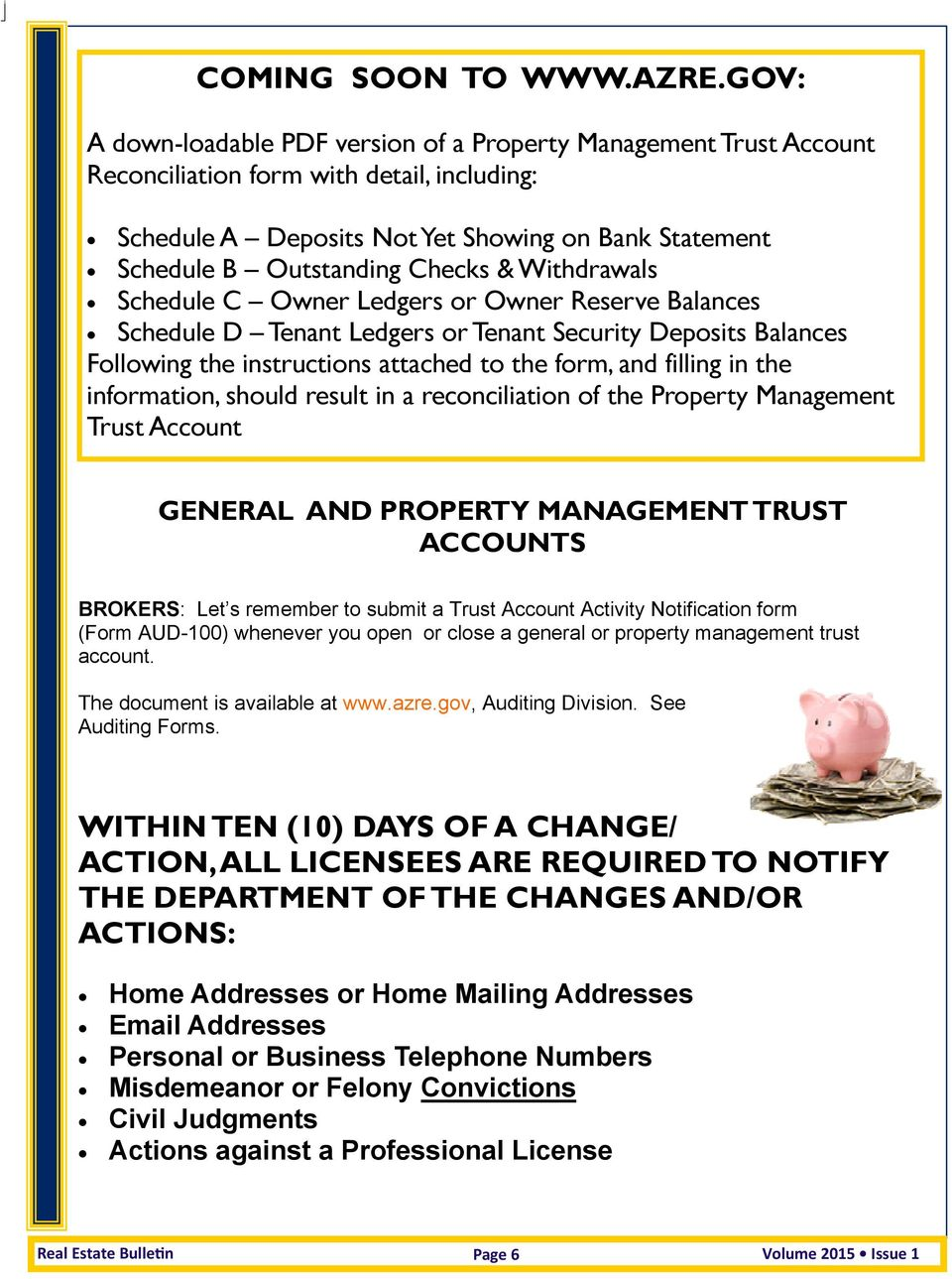 & Withdrawals Schedule C Owner Ledgers or Owner Reserve Balances Schedule D Tenant Ledgers or Tenant Security Deposits Balances Following the instructions attached to the form, and filling in the