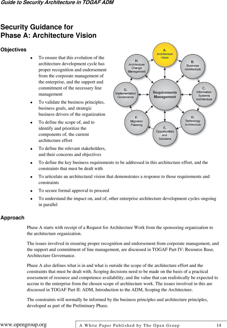 the scope of, and to identify and prioritize the components of, the current architecture effort To define the relevant stakeholders, and their concerns and objectives To define the key business