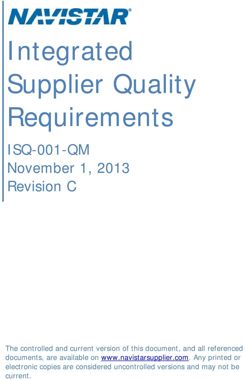 referenced documents, are available on www.navistarsupplier.com.