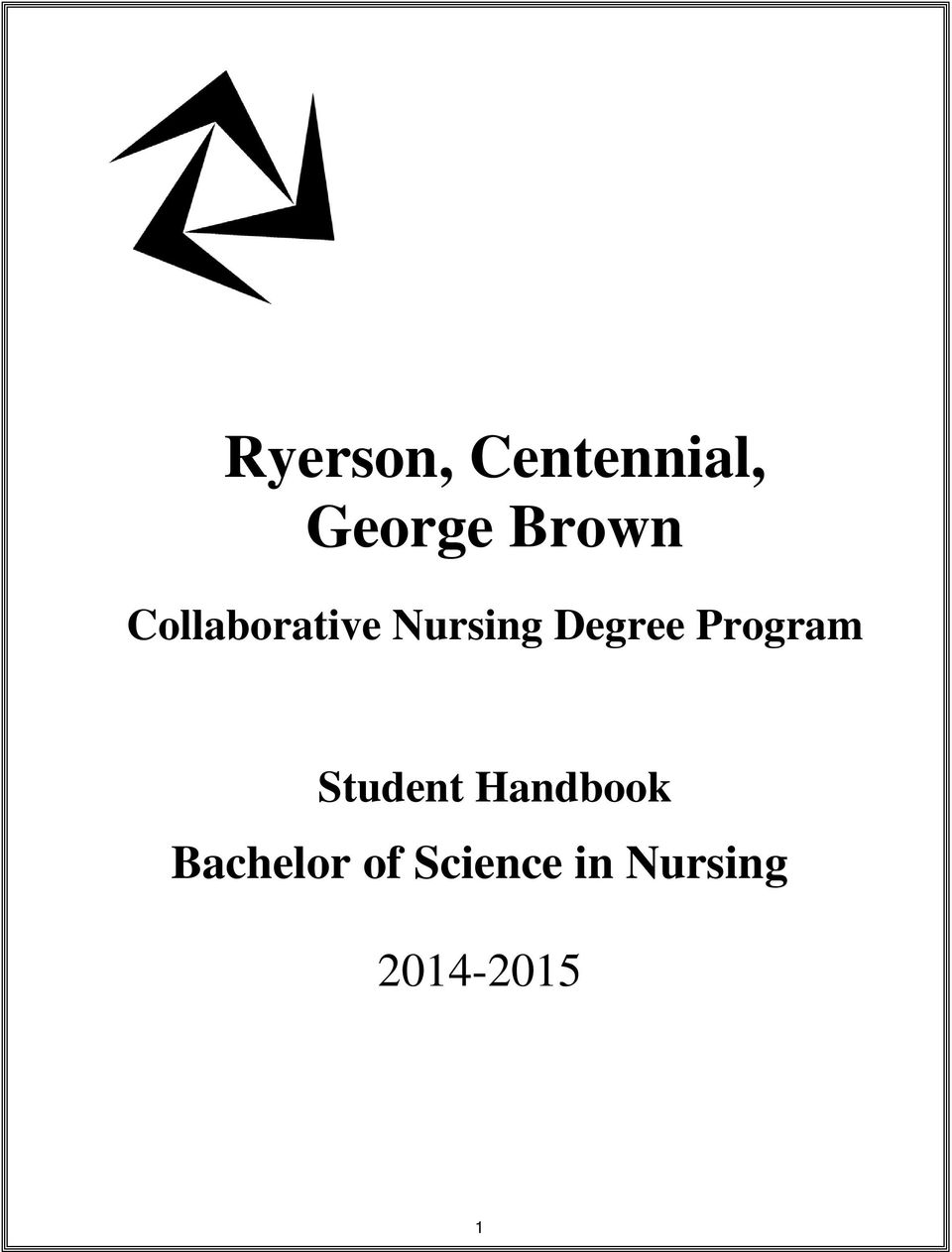 Degree Program Student Handbook