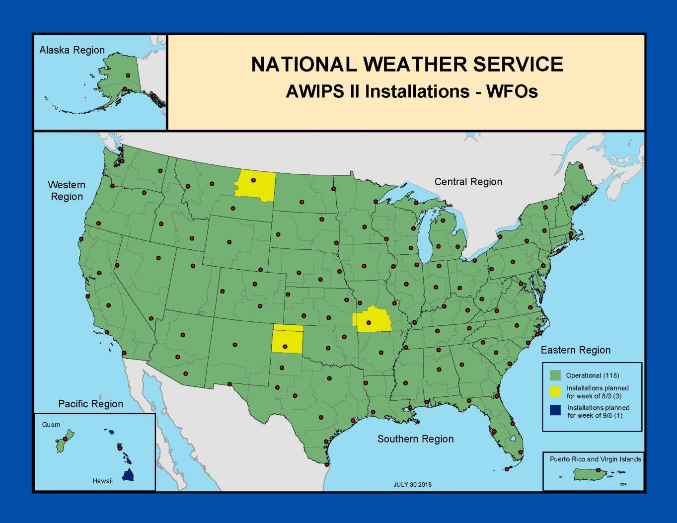Central Processing Upgraded AWIPS2 Installation