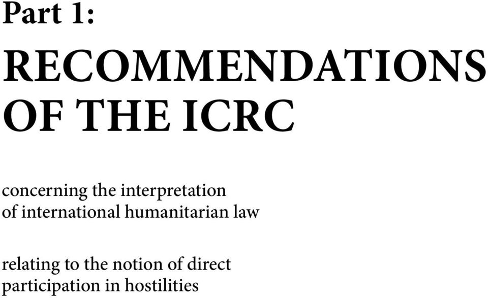 international humanitarian law relating