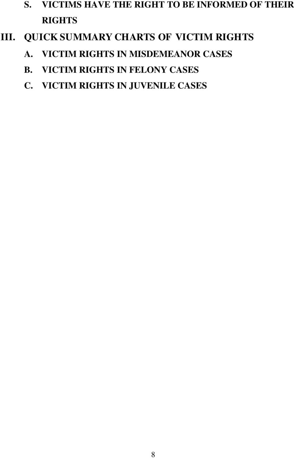 VICTIM RIGHTS IN MISDEMEANOR CASES B.