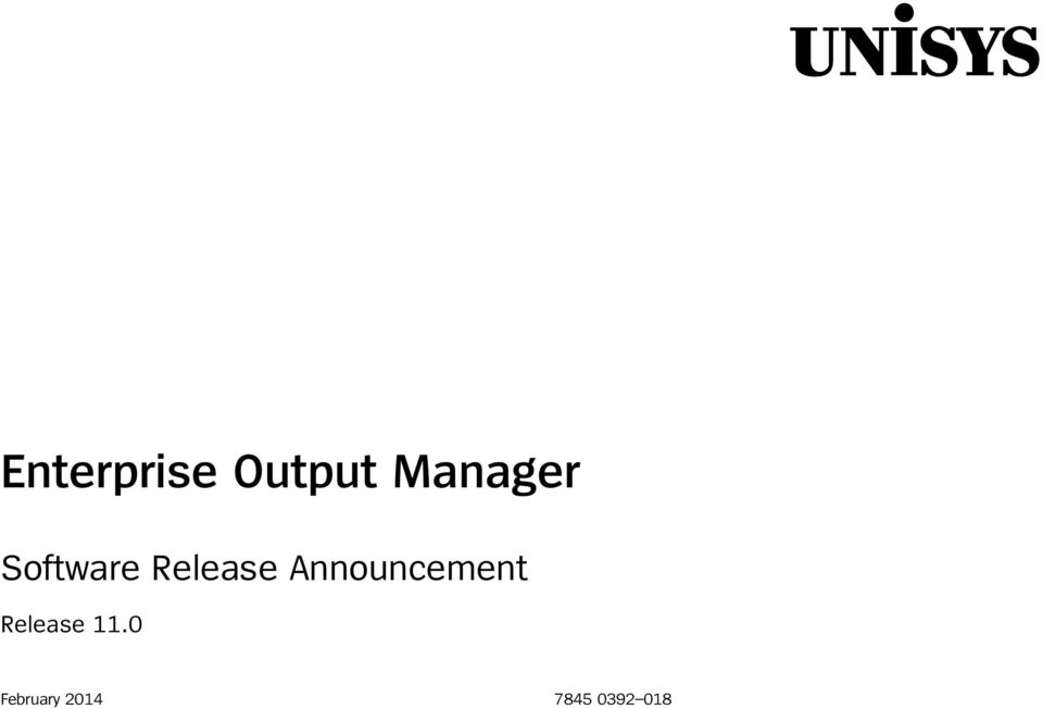 Announcement Release 11.