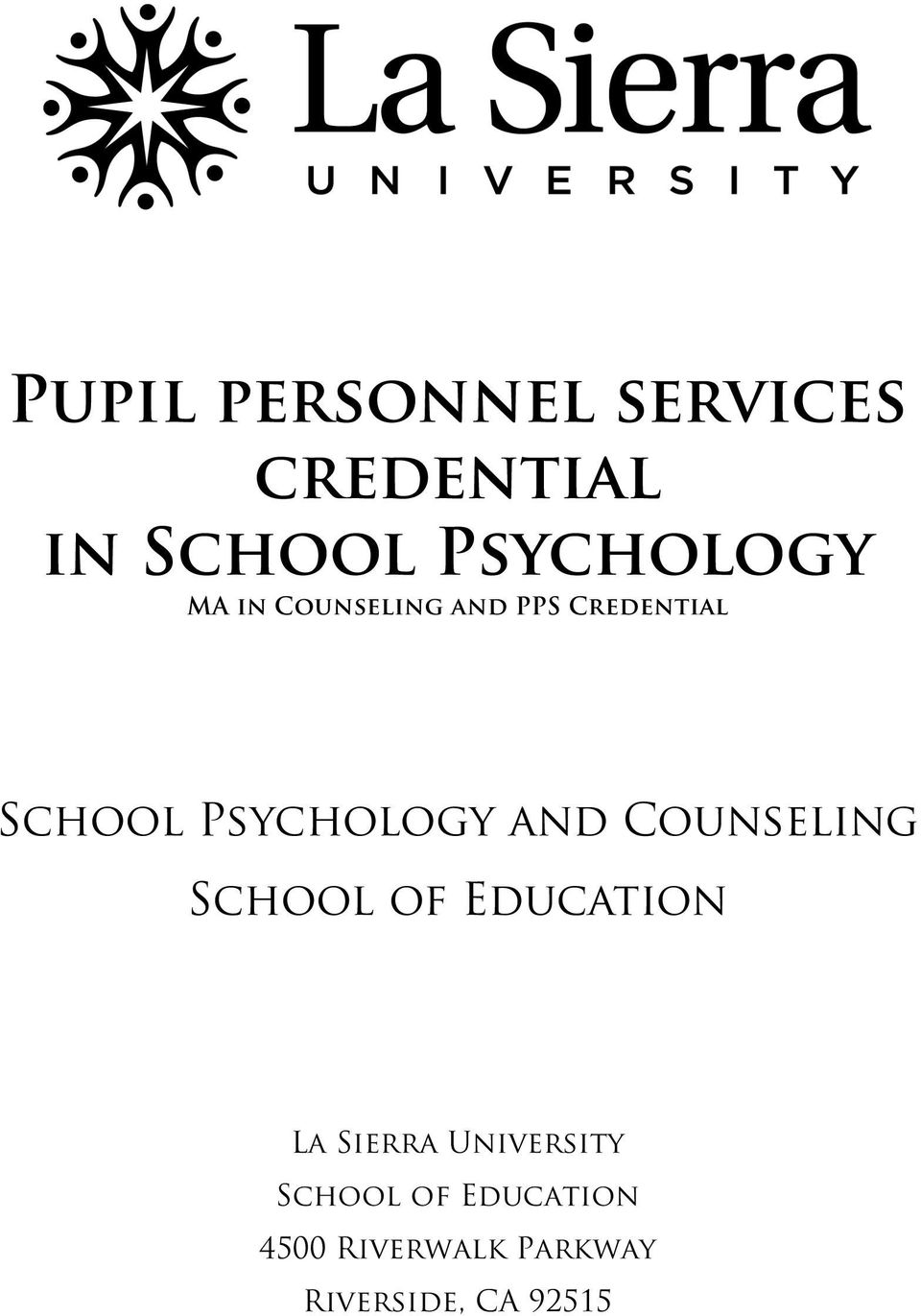 Counseling School of Education La Sierra University