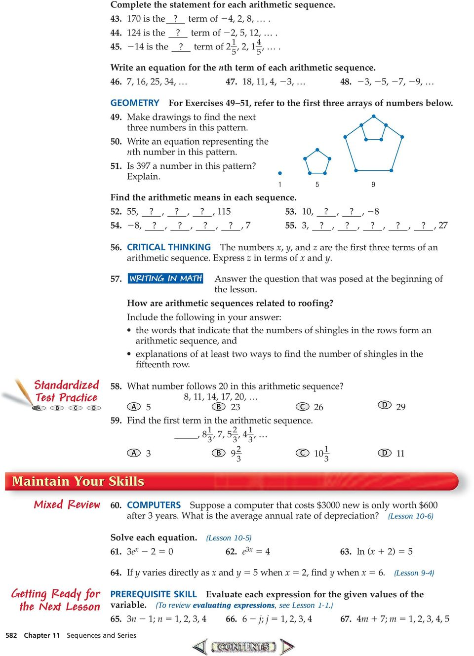 Arithmetic Sequences Worksheet Addition And Subtraction With