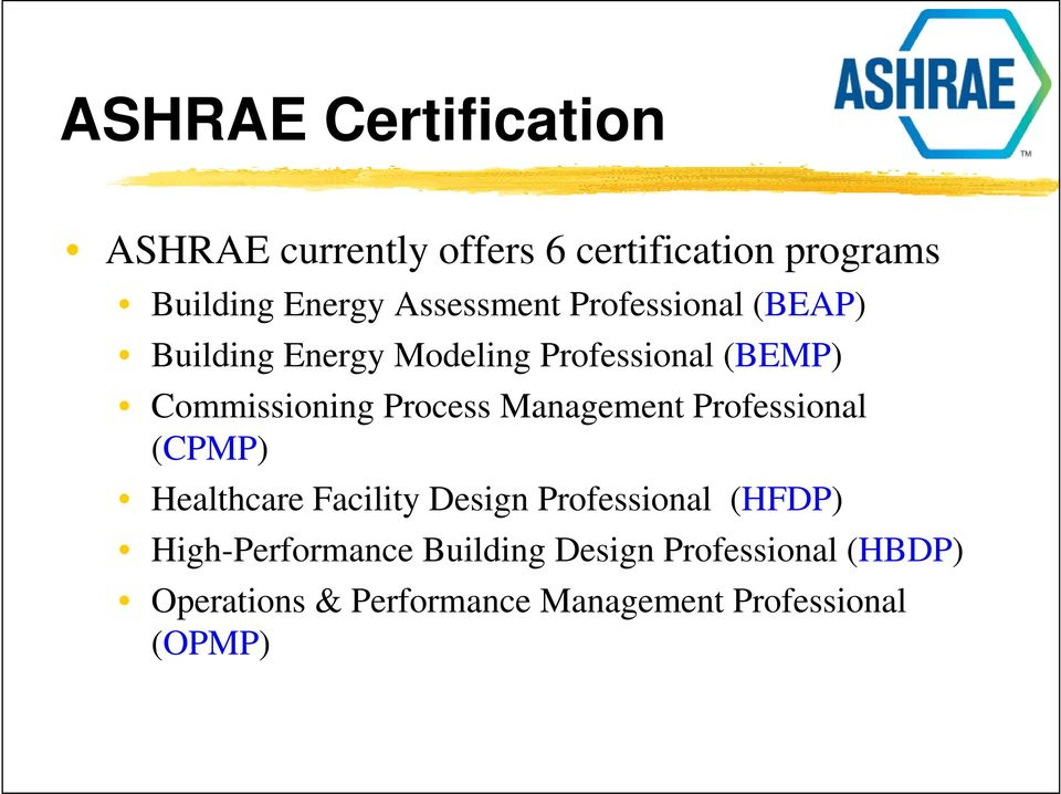 Ashrae certification programs pdf for Certified professional building designer