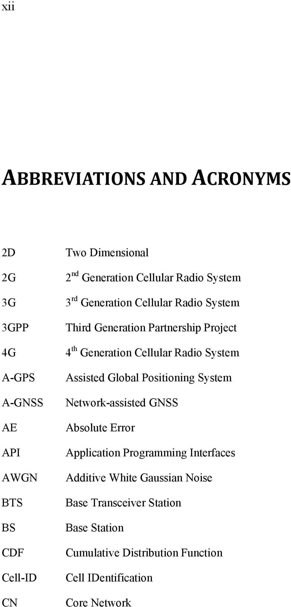 Cellular Radio System Assisted Global Positioning System Network-assisted GNSS Absolute Error Application Programming
