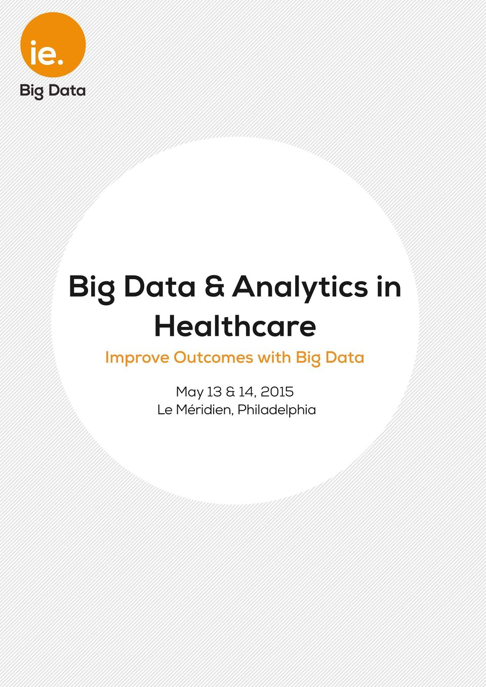 with Big Data May 13 & 14,