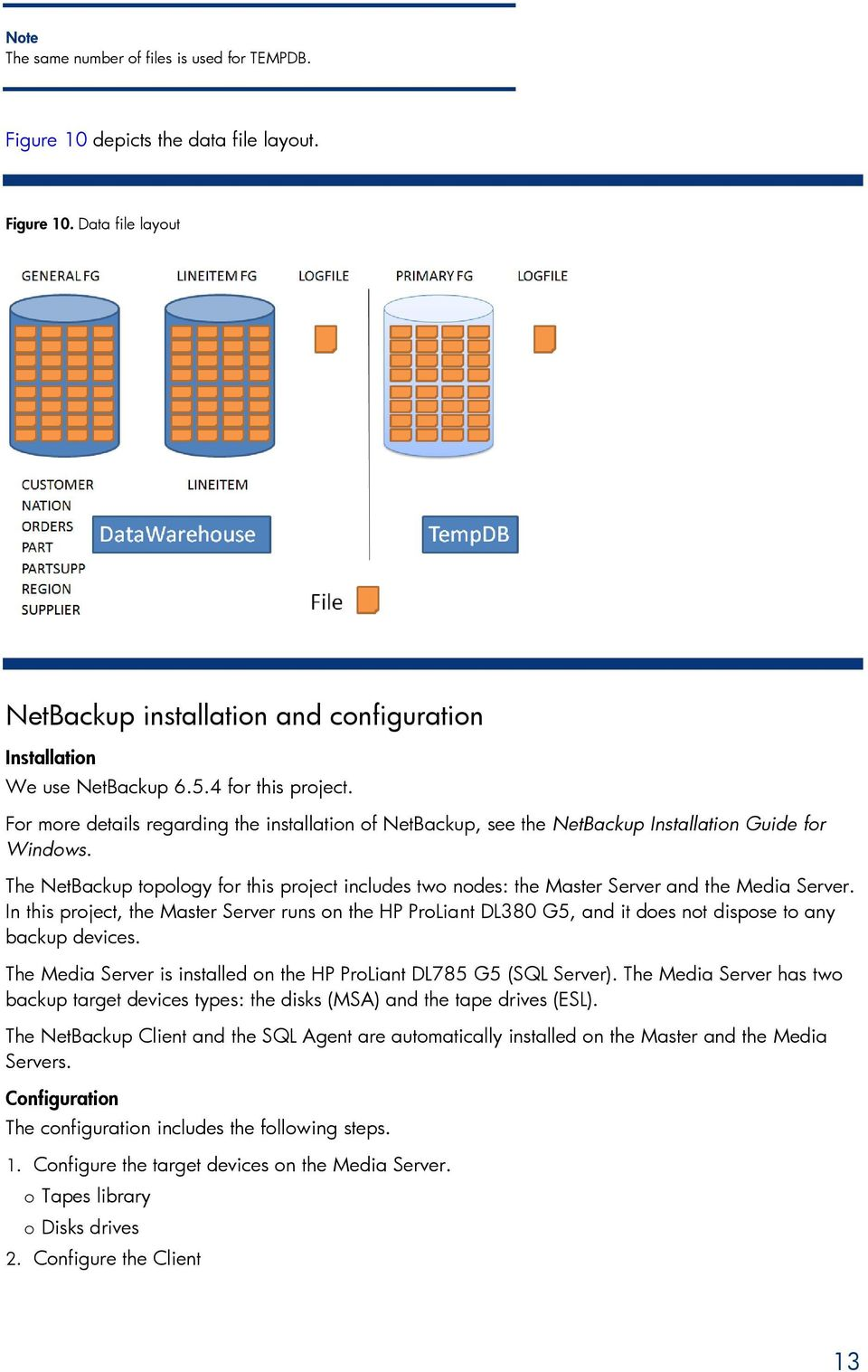 The NetBackup topology for this project includes two nodes: the Master Server and the Media Server.