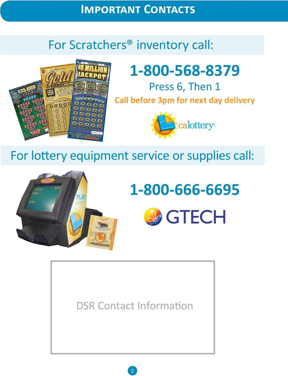next day delivery For lottery equipment service or