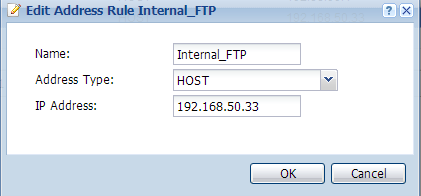 ZyXEL USG Application Notes Step 6. The user can create an address object for the internal FTP server for further configuration usage. Click on Create new Object for this function. Step 7.