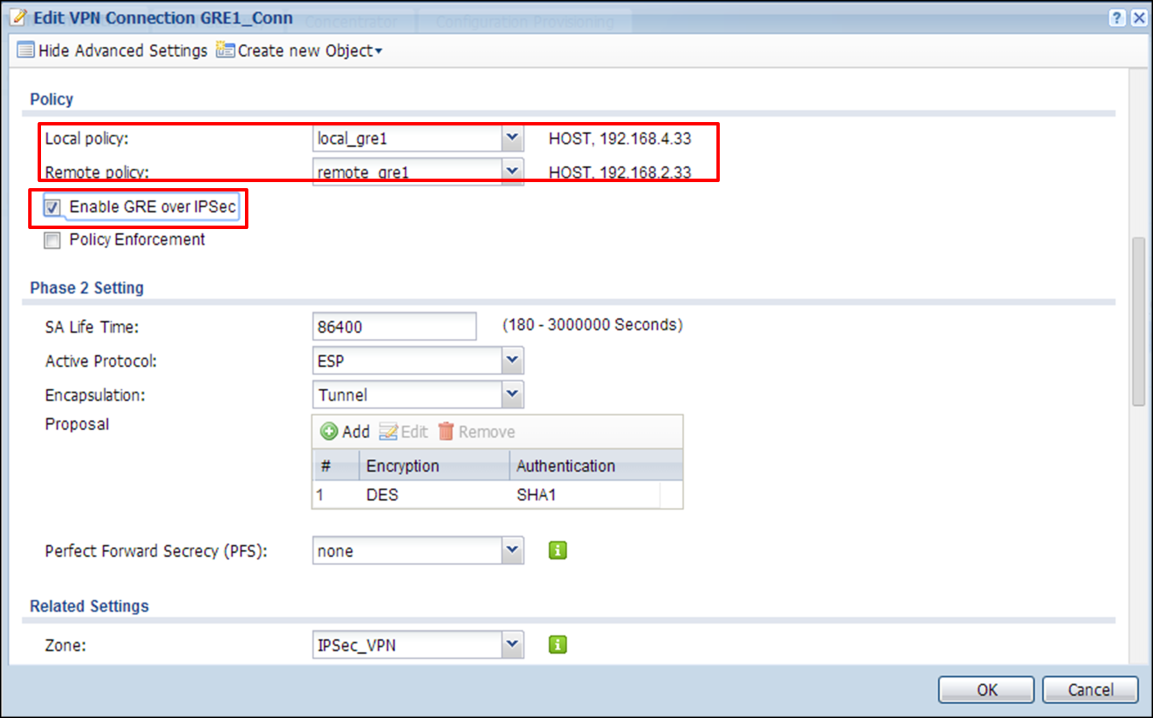 Step 8. Add a policy routes on USG2. Go to CONFIGURATION > Network > Routing.