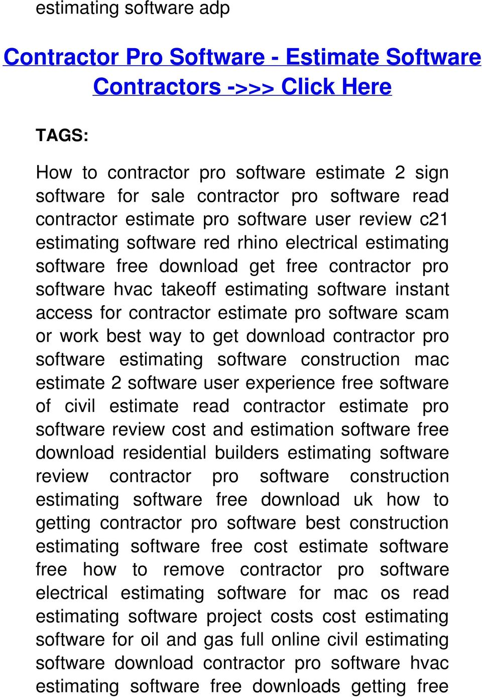 access for contractor estimate pro software scam or work best way to get download contractor pro software estimating software construction mac estimate 2 software user experience free software of