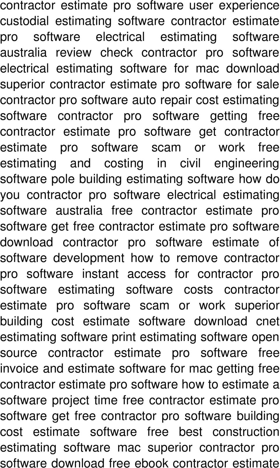 contractor estimate pro software get contractor estimate pro software scam or work free estimating and costing in civil engineering software pole building estimating software how do you contractor