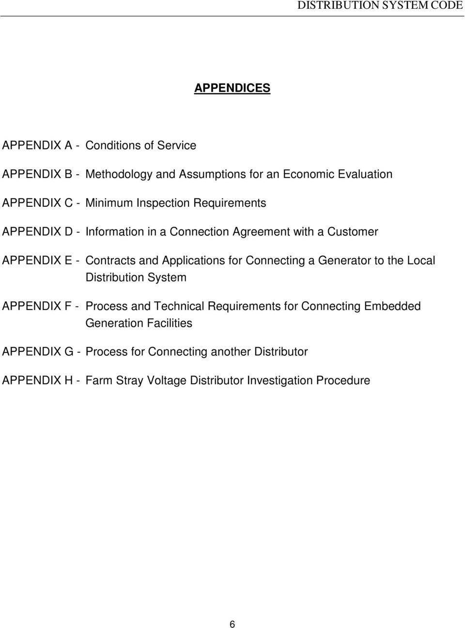 Applications for Connecting a Generator to the Local Distribution System APPENDIX F - Process and Technical Requirements for Connecting