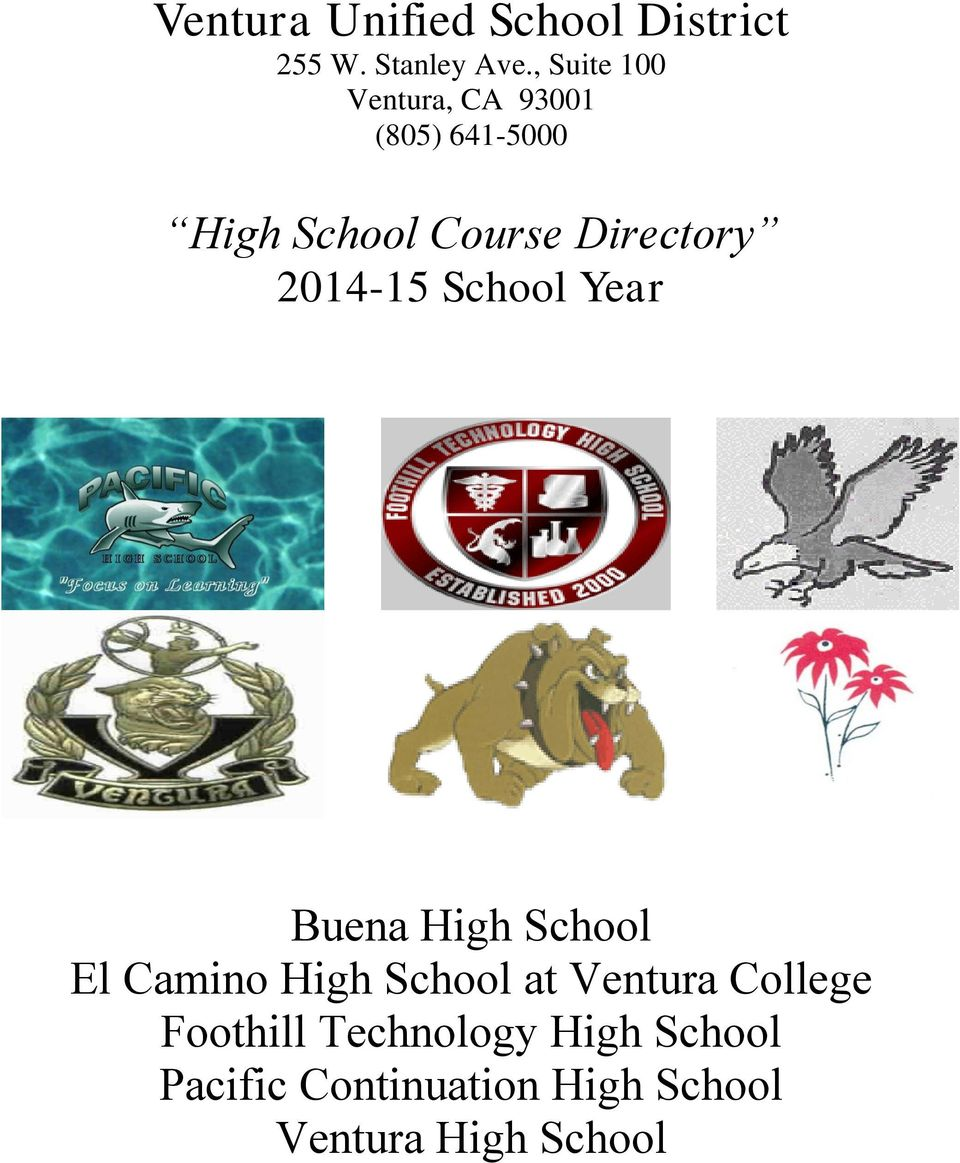 Directory 2014-15 Buena High El Camino High at Ventura