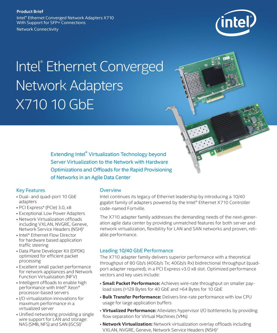 Intel Ethernet Converged Network Adapters X GbE - PDF