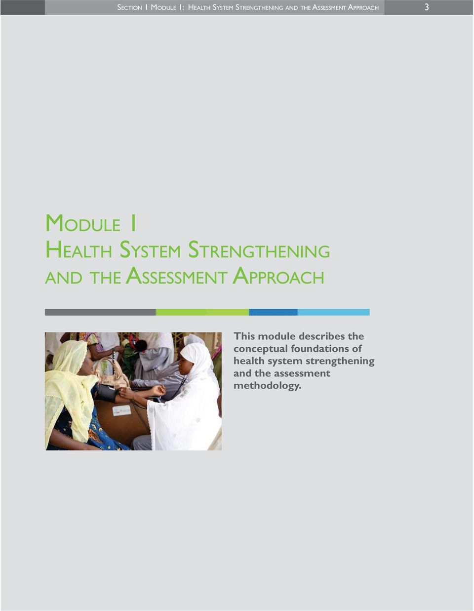 THE ASSESSMENT APPROACH This module describes the conceptual