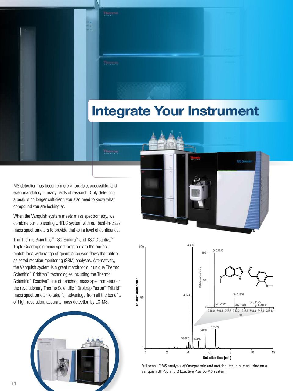 When the Vanquish system meets mass spectrometry, we combine our pioneering UHPLC system with our best-in-class mass spectrometers to provide that extra level of confidence.