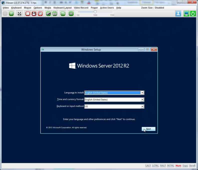 Figure 4 Virtual Console Viewer Showing an OS Installation ThinkServer System Manager Premium upgrade also enables you to logically mount a local or networked drive on the server.