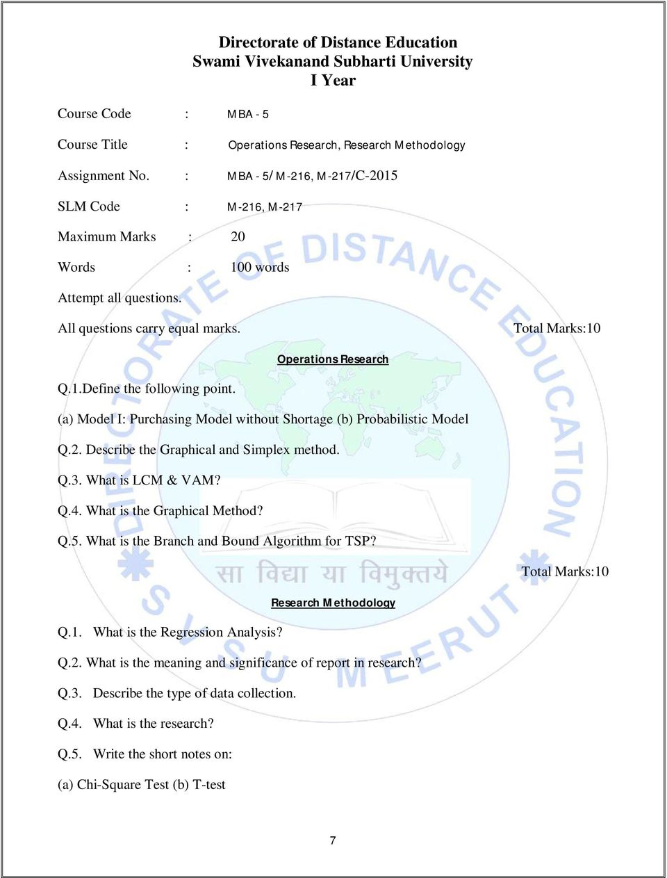 master of business administration mba mba assign i year  what is the graphical method q 5 what is the branch and bound