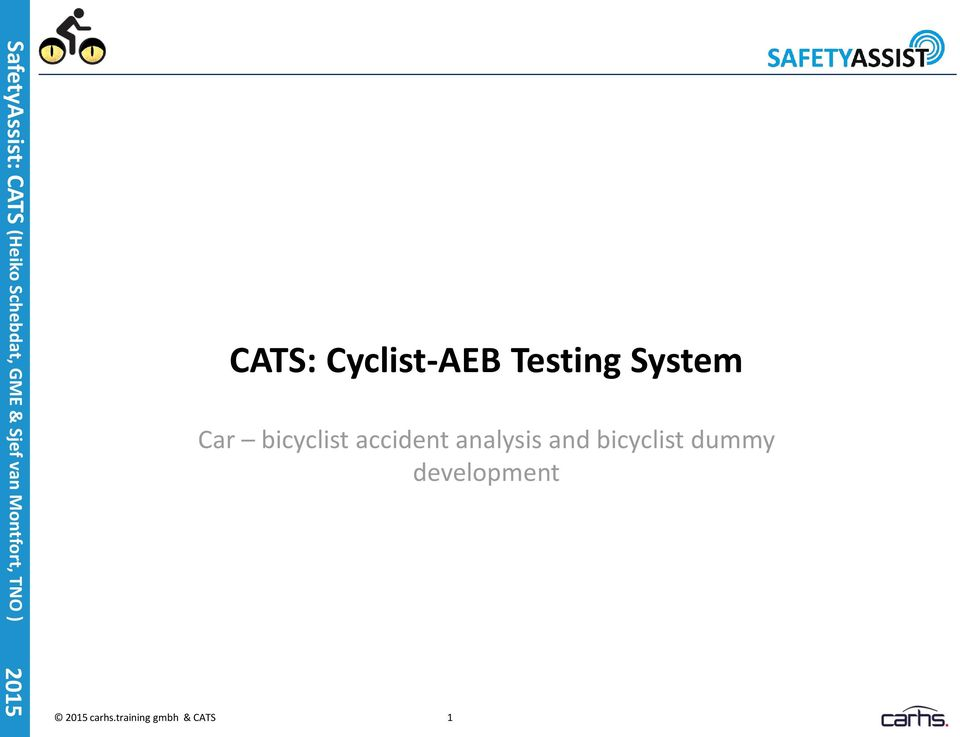 analysis and bicyclist dummy