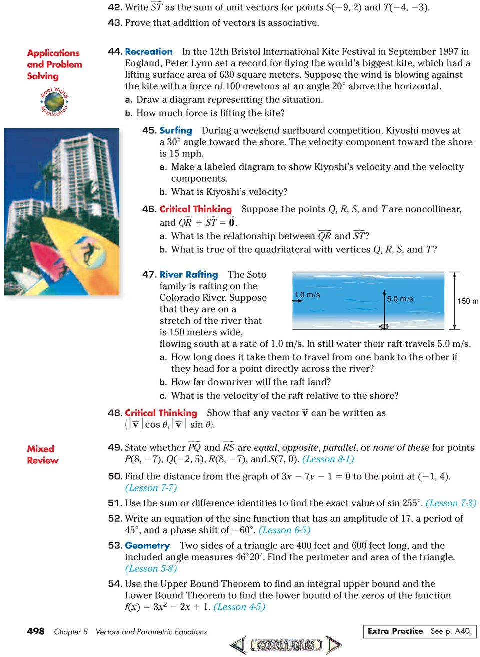 Vectors and parametric equations pdf suppose the wind is blowing against the kite with a force of newtons at an angle ccuart Gallery