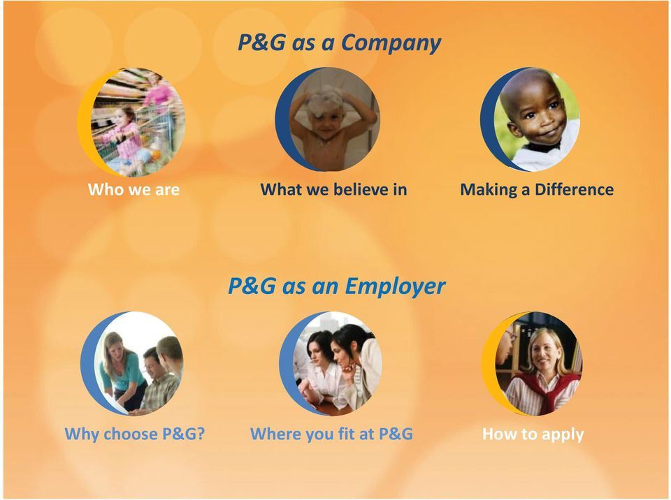 P&G as an Employer Why choose P&G?
