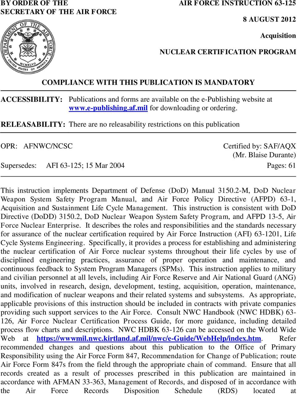 Af Form 847 Administrative Changes To Afi 33 360 Publications And ...