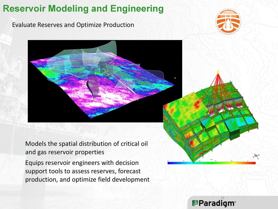 reservoir properties Equips reservoir engineers with decision support