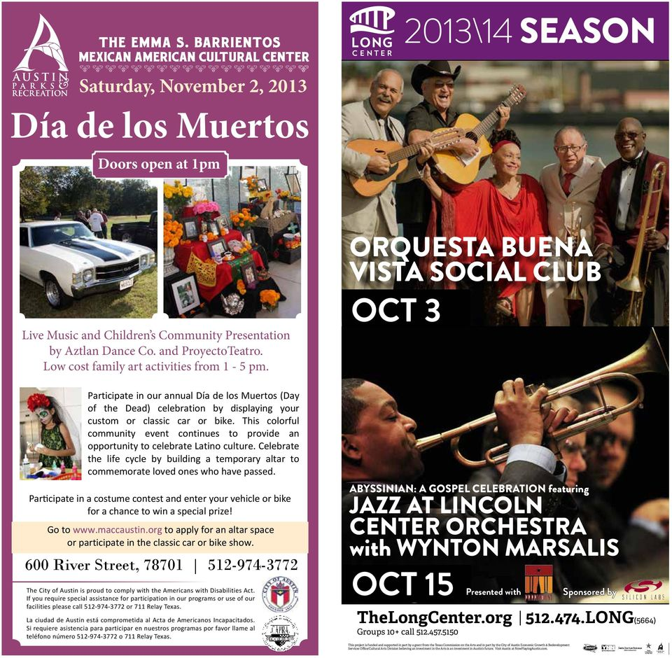 of Los Angeles presents Participate in our annual Día de los Muertos (Day of the Dead) celebration by displaying your custom or classic car or bike.