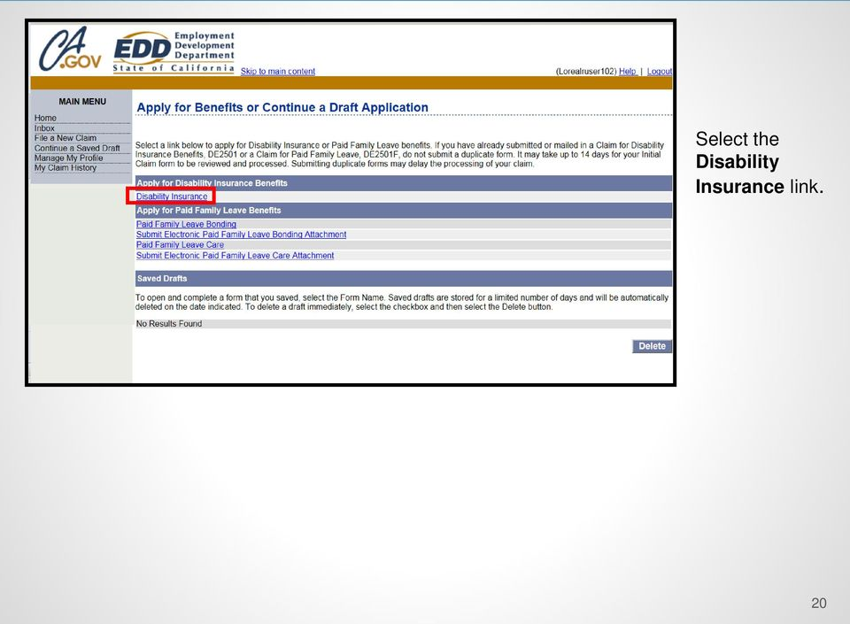 Sdi Online Tutorial Claimant Registration Online Access And Claim