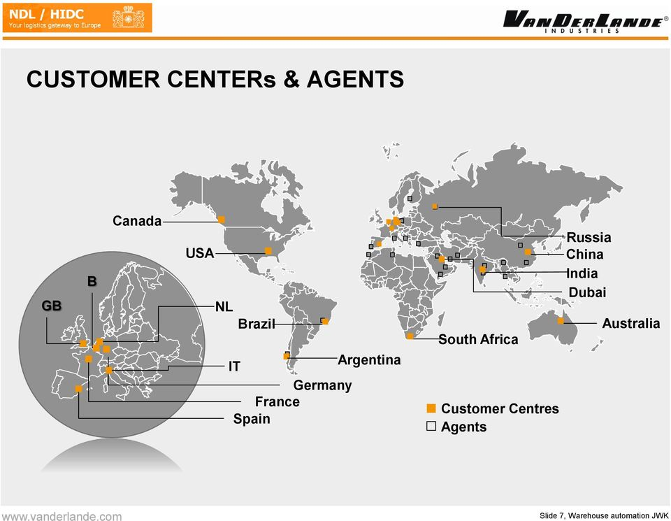 Africa Customer Centres Agents Russia China