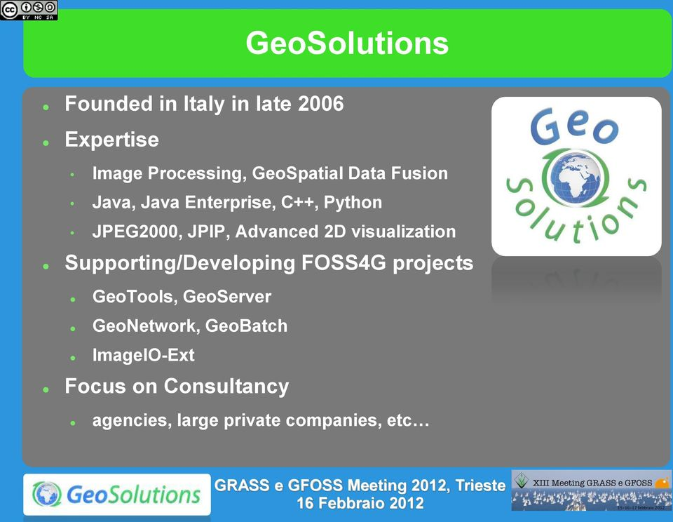 Advanced 2D visualization Supporting/Developing FOSS4G projects GeoTools,