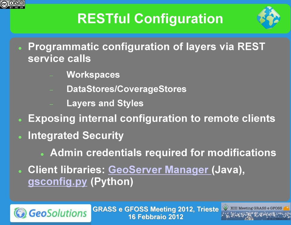 configuration to remote clients Integrated Security Admin credentials required