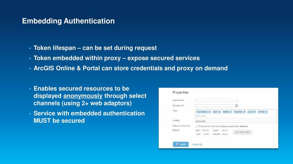 and proxy on demand Enables secured resources to be displayed anonymously through