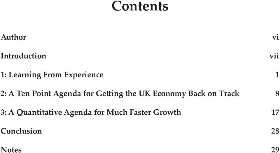 Getting the UK Economy Back on Track 8 3: A