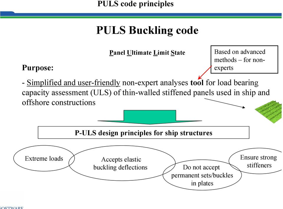 thin-walled stiffened panels used in ship and offshore constructions P-ULS design principles for ship structures