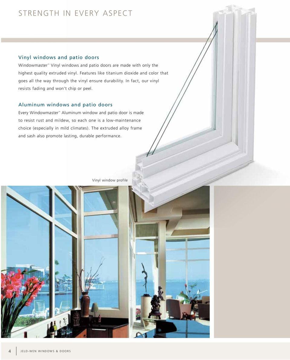 Aluminum Windows And Doors Training Pdf : Windowmaster vinyl and aluminum windows patio doors pdf