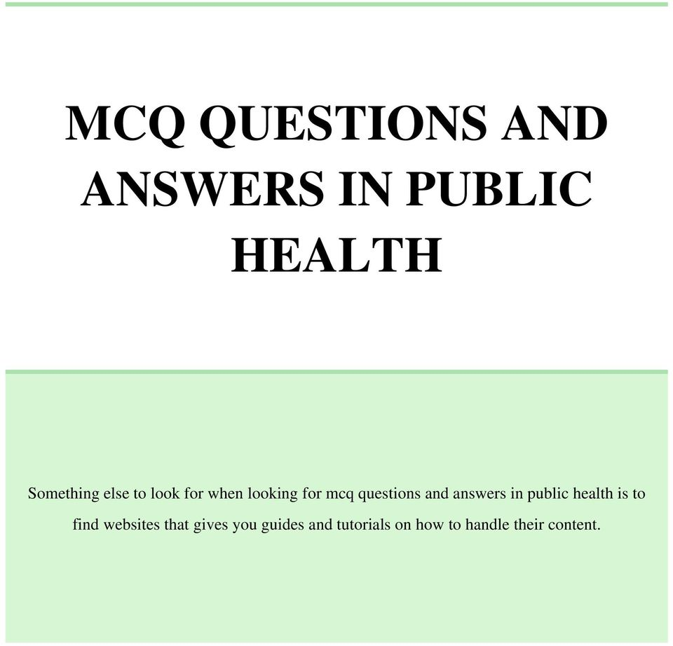 mcq questions and answers in public health pdf answers in public health is to websites that