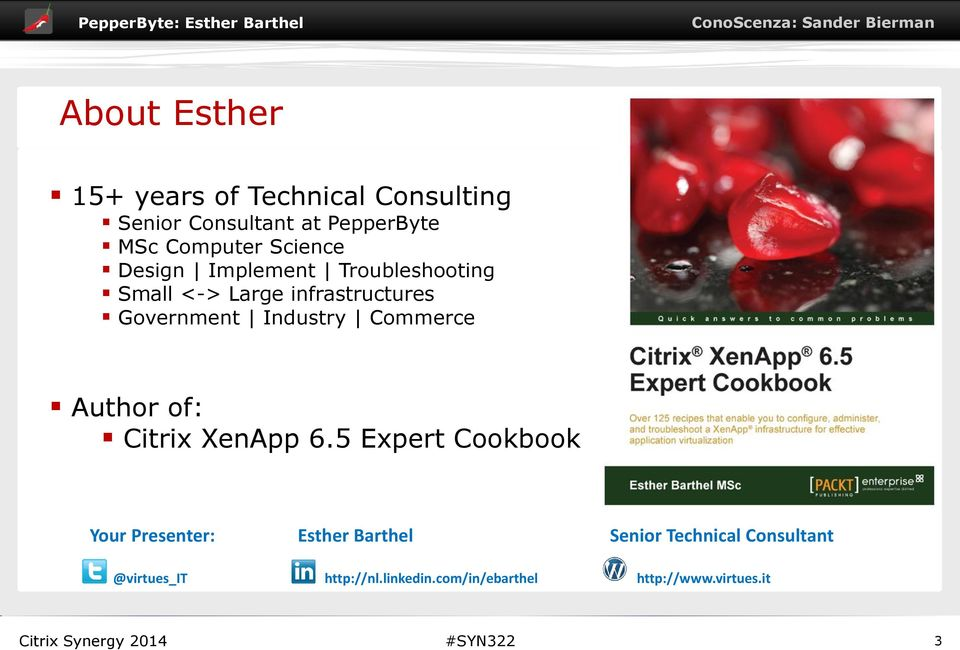 Industry Commerce Author of: Citrix XenApp 6.