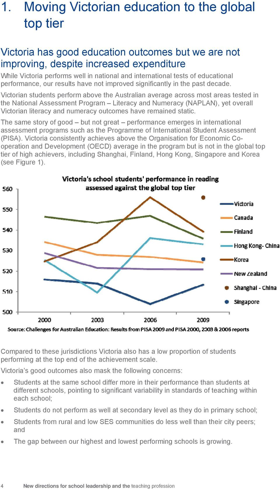 Victorian students perform above the Australian average across most areas tested in the National Assessment Program Literacy and Numeracy (NAPLAN), yet overall Victorian literacy and numeracy